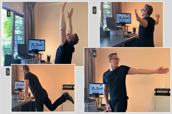 desk exercises back neck pain